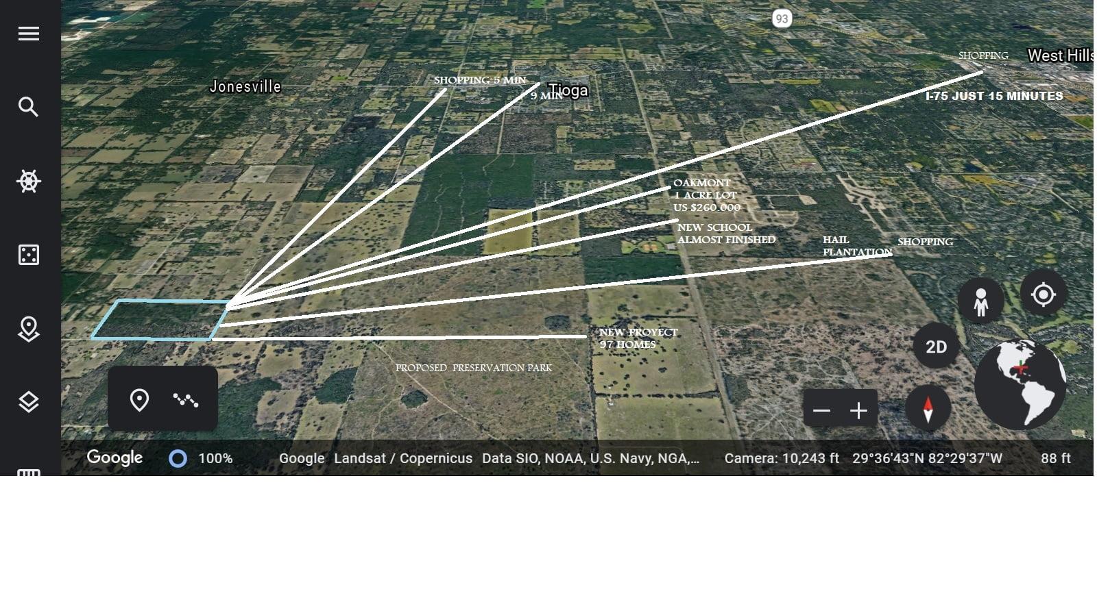 Gainesville, Florida (80 Acres) US $1,950,000