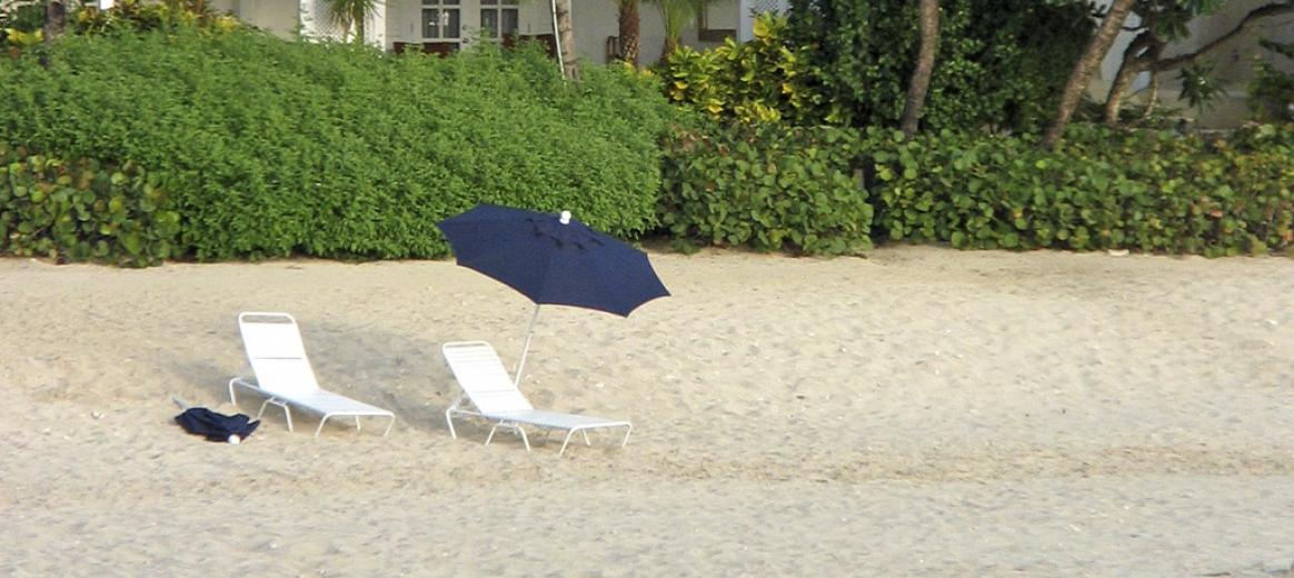 150 chairs on North beach